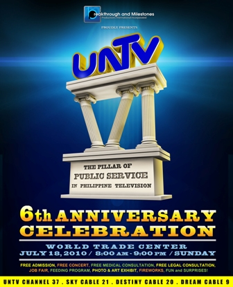 UNTV 6th Year Anniversary poster